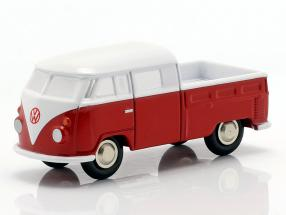 Set Piccolo collectors catalog 1994-2015 with Volkswagen VW T1 double cabin red / White 1:90 Schuco