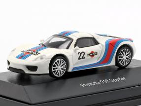 Porsche 918 Spyder #22 Martini Design white / blue / red 1:87 Schuco