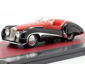 Jaguar SS100 2,5 ltr Roadster Vanden Plas year 1939 red / black 1:43 Matrix