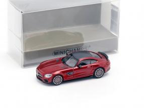 Brabus 600 based on Mercedes-Benz AMG GT S year 2015 red metallic 1:87 Minichamps