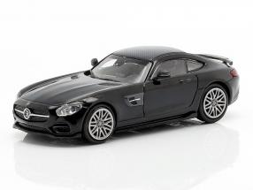 Brabus 600 based on Mercedes-Benz AMG GT S year 2015 black 1:87 Minichamps