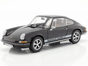 Porsche 911 S coupe year 1973 black 1:18 Schuco