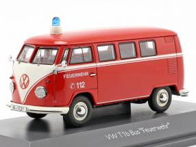 Volkswagen VW T1b bus fire Department red 1:43 Schuco