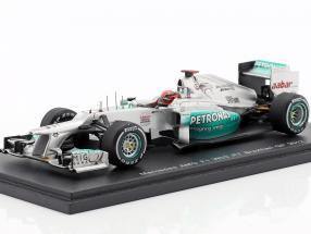 M. Schumacher Mercedes AMG W03 last Race GP Brazil formula 1 2012 1:43 Spark