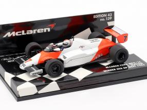 John Watson McLaren MP4/1C #7 Winner USA West GP Formula 1 1983 1:43 Minichamps