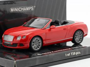 Bentley Continental GTC Speed Year 2012 red 1:43 Minichamps