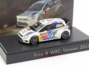 Volkswagen VW Polo R WRC #9 Rally Monte Carlo 2014 Mikkelsen 1:43 Spark