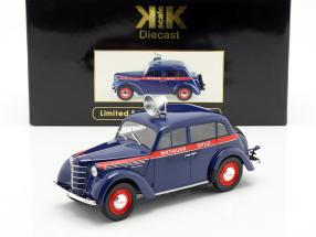 Moskwitsch 400 police year 1946 dark blue / red 1:18 KK-Scale