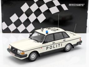 Volvo 240 GL police Denmark year 1986 white 1:18 Minichamps
