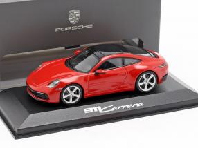 Porsche 911 (992) Carrera 2 year 2019 guards red 1:43 Minichamps