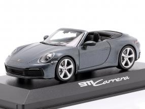 Porsche 911 (992) Carrera 2 Cabriolet year 2019 Biscay blue 1:43 Minichamps