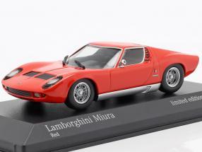 Lamborghini Miura year 1966 red 1:43 Minichamps