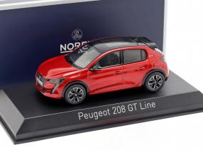 Peugeot 208 GT Line year 2019 red 1:43 Norev