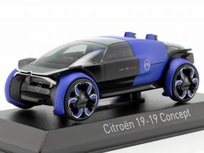 Citroen 19_19 Concept Car year 2019 blue / black 1:43 Norev