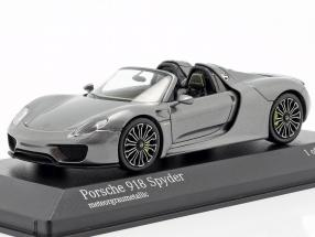 Porsche 918 Spyder Year 2013 gray metallic 1:43 Minichamps