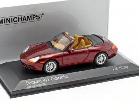 Porsche 911 (996) Cabriolet Year 1998 red 1:43 Minichamps