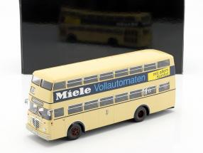 Büssing D2U double decker Miele Year 1958 beige 1:43 Minichamps