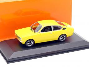 Opel Kadett C Coupe Year 1974 yellow 1:43 Minichamps