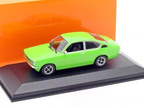 Opel Kadett C Coupe Year 1974 green 1:43 Minichamps