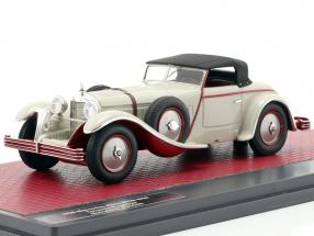 Mercedes-Benz 680S W06 Torpedo Roadster closed Top 1928 light grey 1:43 Matrix