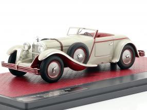 Mercedes-Benz 680S W06 Torpedo Roadster open Top 1928 light gray 1:43 Matrix