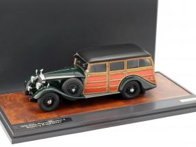 Rolls Royce Phantom II Shooting Brake 1930 dark green / wood look 1:43 Matrix