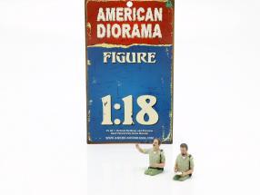 2 Sheriff Figures Set 1:18 American Diorama