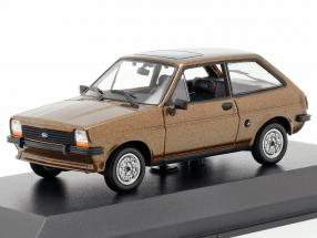 Ford Fiesta Year 1976 brown 1:43 Minichamps