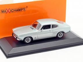 Ford Capri I Year 1969 light blue metallic 1:43 Minichamps