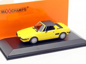 Fiat X1/9 Year 1974 yellow 1:43 Minichamps