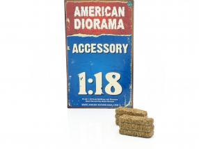 Hay Bale 2-er set 1:18 American Diorama