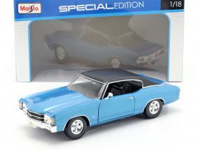 Chevrolet Chevelle SS 454 year 1971 blue 1:18 Maisto