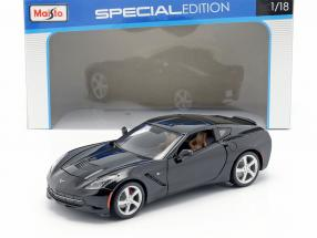Chevrolet Corvette Stingray year 2014 black 1:18 Maisto