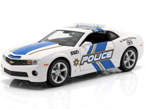 Chevrolet Camaro SS RS Police year 2010 blue / white 1:18 Maisto