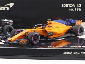 2-Car Set Fernando Alonso 300th formula 1 GP Canada 2018 1:43 Minichamps