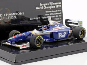Jacques Villeneuve Williams FW19 #3 World Champion formula 1 1997 1:43 Minichamps