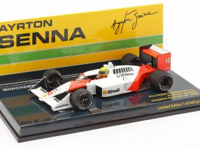 Ayrton Senna McLaren MP4/4 #12 British GP World Champion F1 1988 1:43 Minichamps