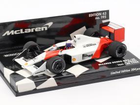 Alain Prost McLaren MP4/4B Test Car formula 1 1988 1:43 Minichamps