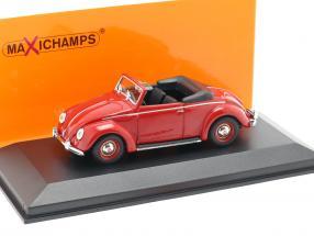 Volkswagen VW Hebmüller Cabriolet year 1950 red 1:43 Minichamps