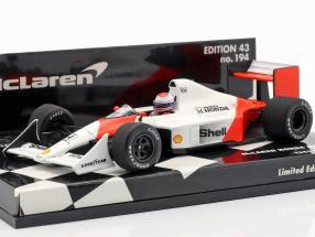 Emanuele Pirro McLaren Honda MP4/4B Test Car formula 1 1988 1:43 Minichamps