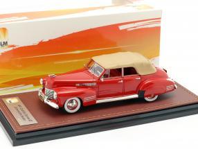 Cadillac Series 62 Convertible Sedan Closed year 1941 red 1:43 GLM