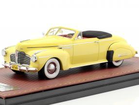 Buick Roadmaster Convertible 76C Open year 1941 yellow 1:43 GLM