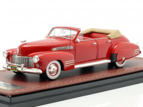 Cadillac Series 62 Convertible Sedan Open year 1941 red 1:43 GLM