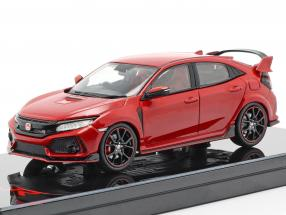Honda Civic Type R RHD year 2017 Rallye red 1:43 TrueScale