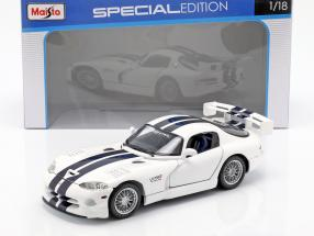 Dodge Viper GTS R white / dark blue 1:18 Maisto