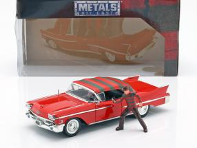 Cadillac Series 62 year 1958 with Freddy Krueger figure red  Jada Toys