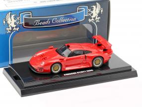 Porsche 911 GT1 year 1996 red 1:64  Kyosho