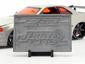 Nissan Skyline GT-R (BNR34) year 2002 silver  Jada Toys