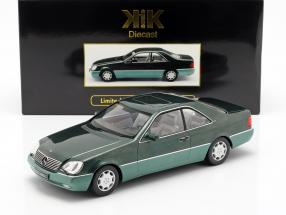 Mercedes-Benz 600 SEC (C140) year 1992 green metallic 1:18 KK-Scale