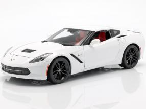 Corvette Stingray Z51 Year 2014 white 1:18 Maisto